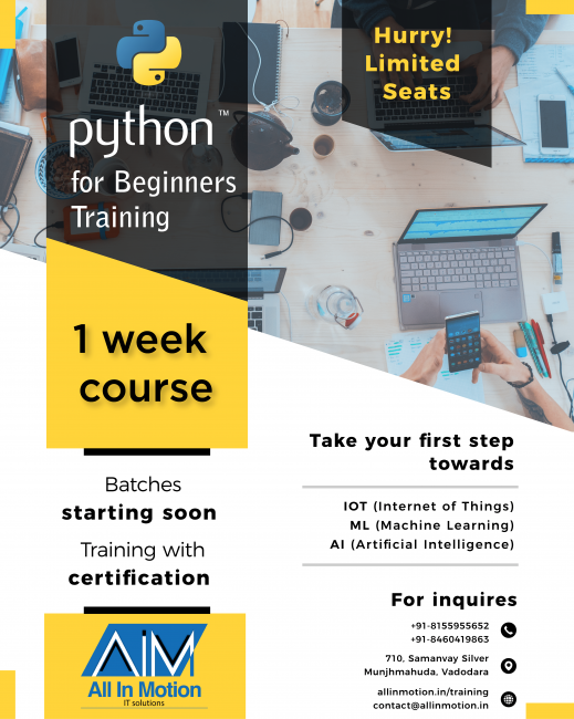 Python For Beginners - All In Motion IT Solutions - Training